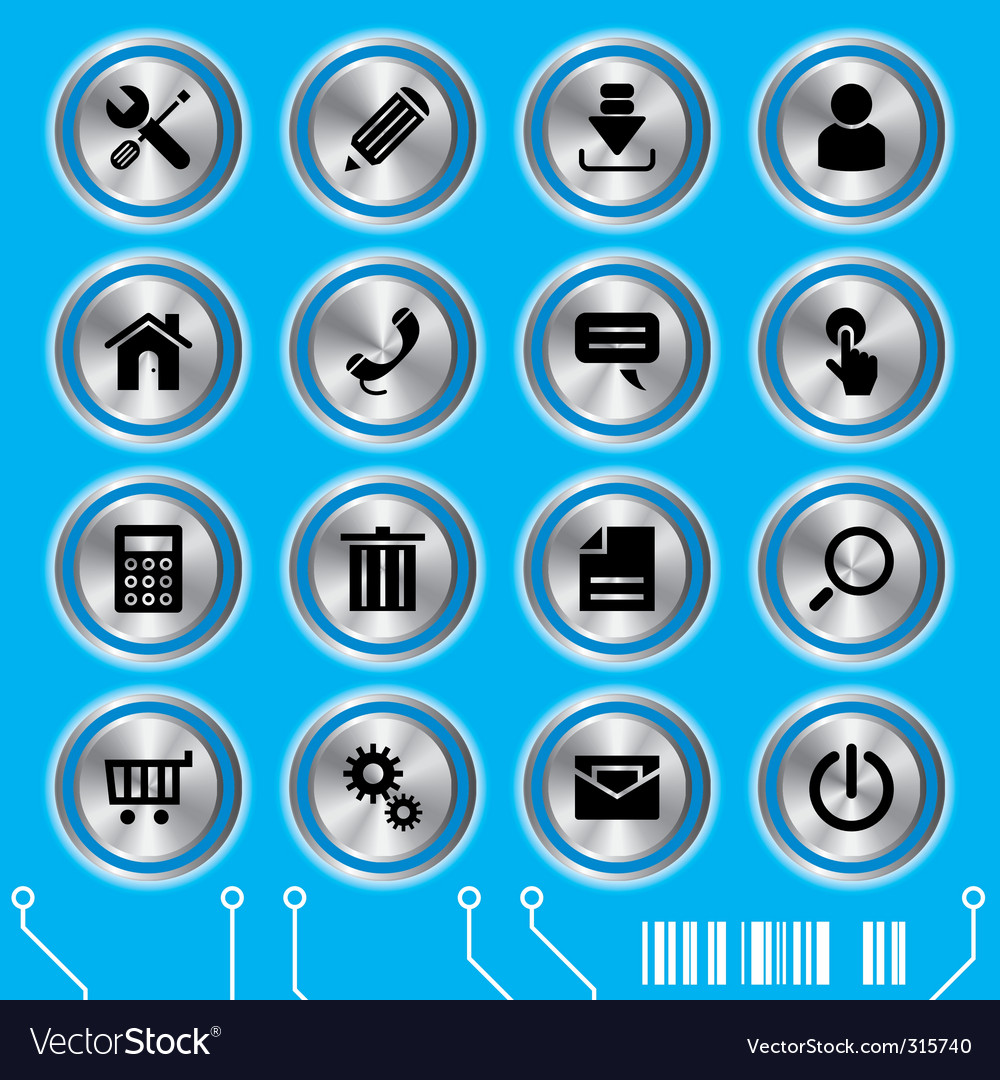 Website icons set vector