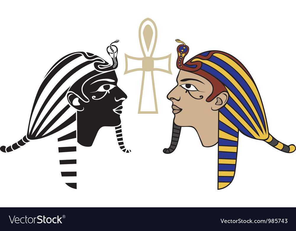 Egyptian pharaon head vector