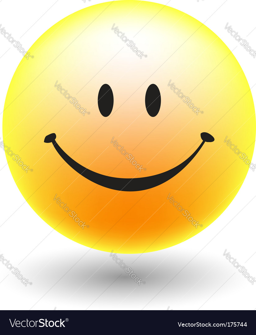 A happy smiley face button vector