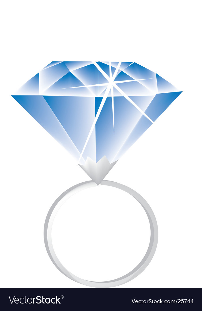 Big Diamond Ring Cartoon An engagement ring with a huge