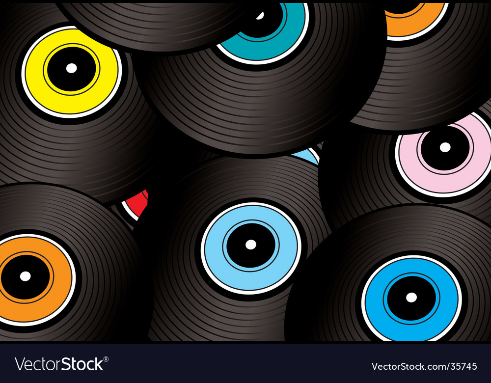 Record montage vector
