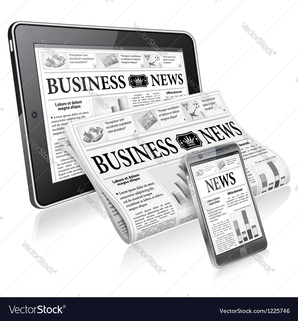 Concept - digital news vector