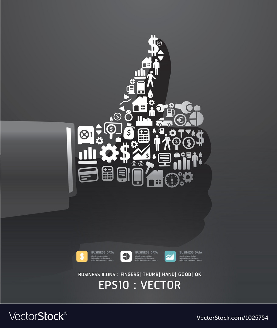 Elements are small icons finance vector