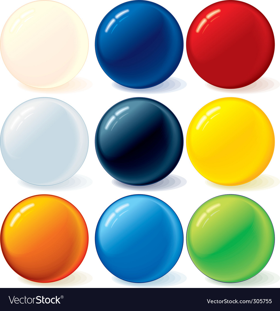 Ball icons vector
