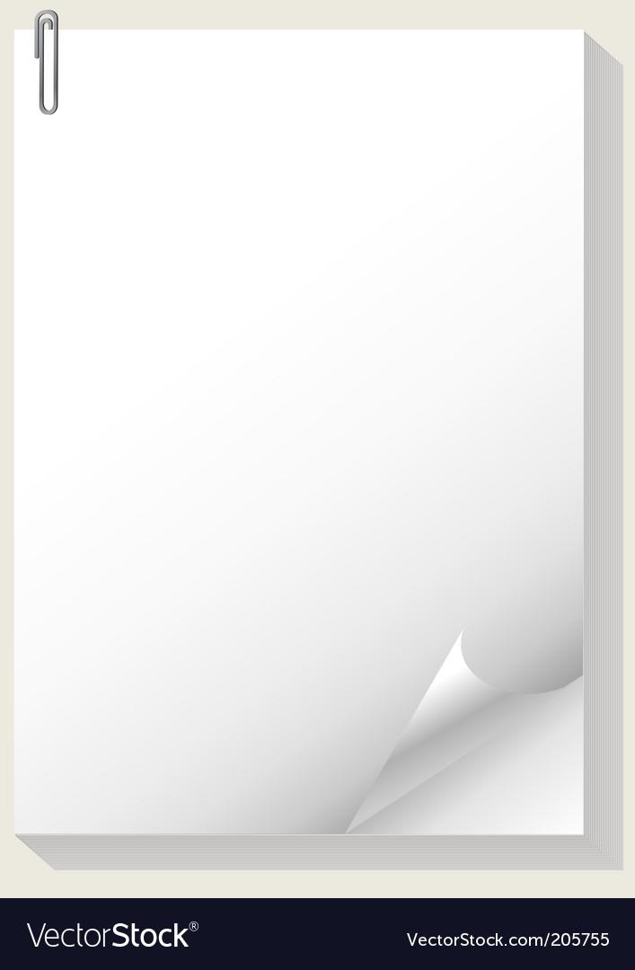Paper pad vector