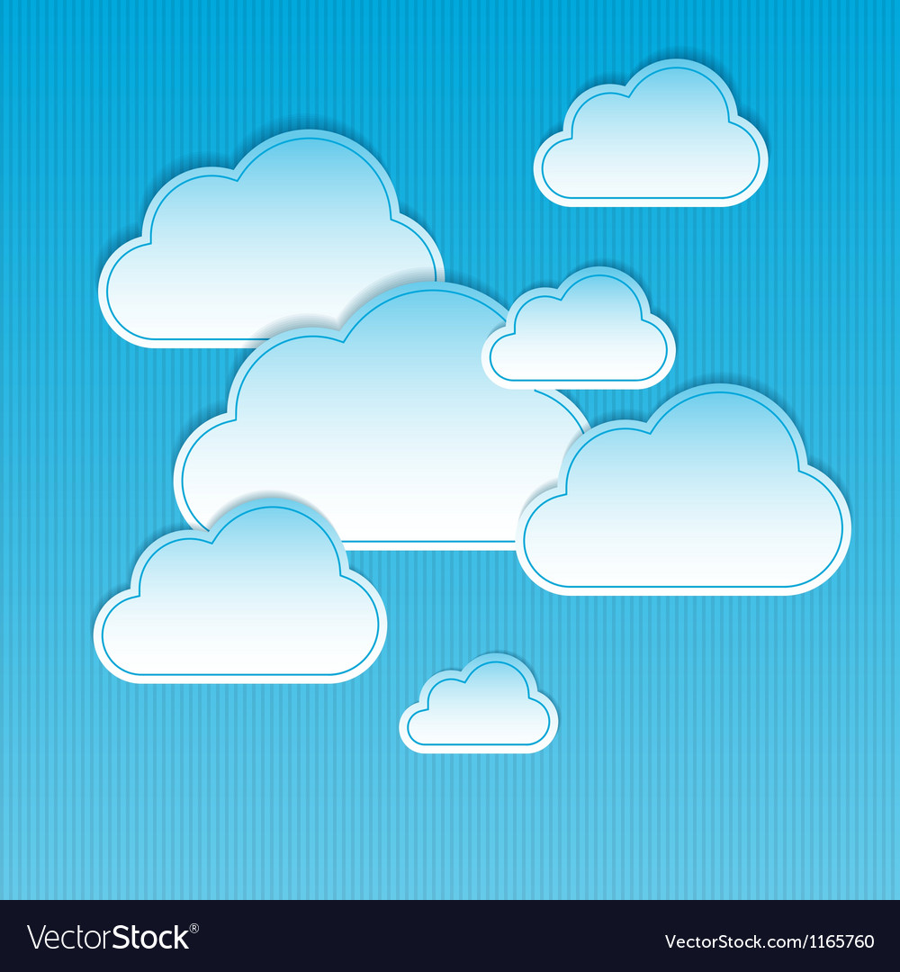 Clouds frames vector