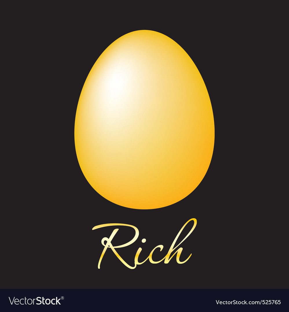 Rich golden egg vector