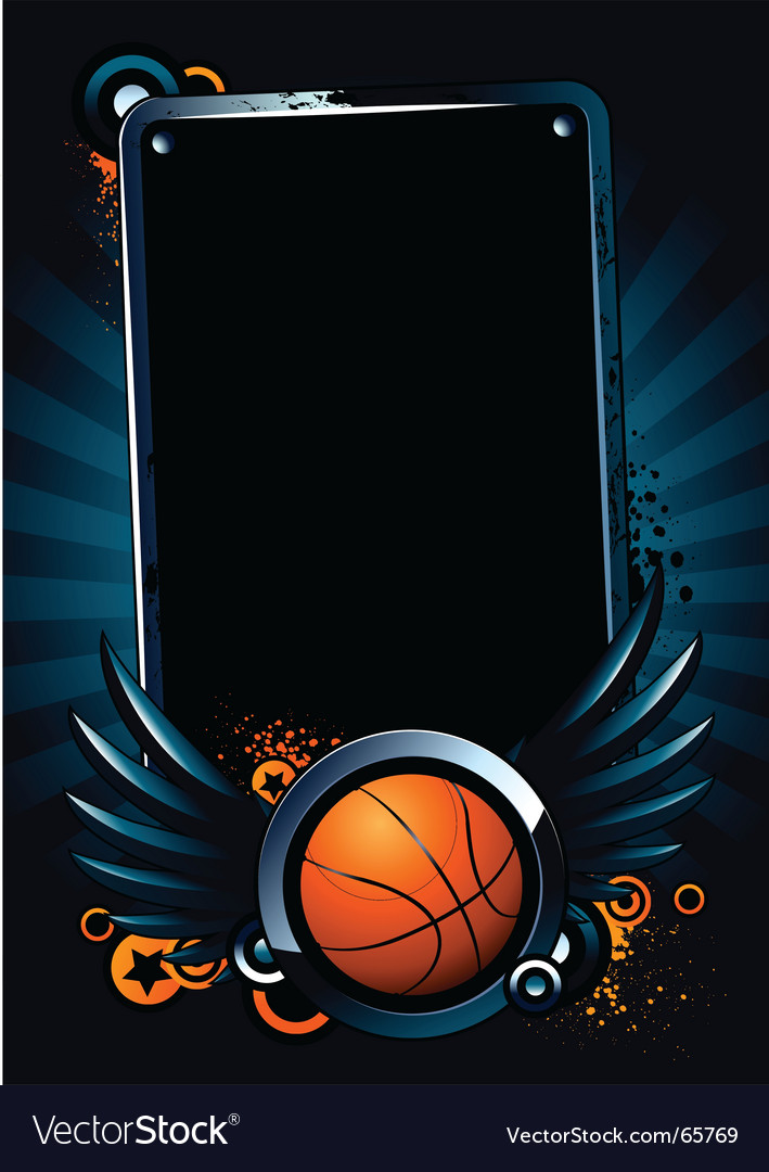 Basketball banner vector