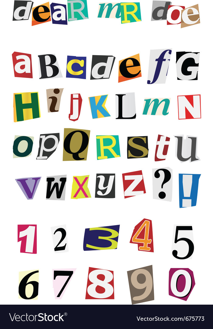 Anonymous alphabet vector