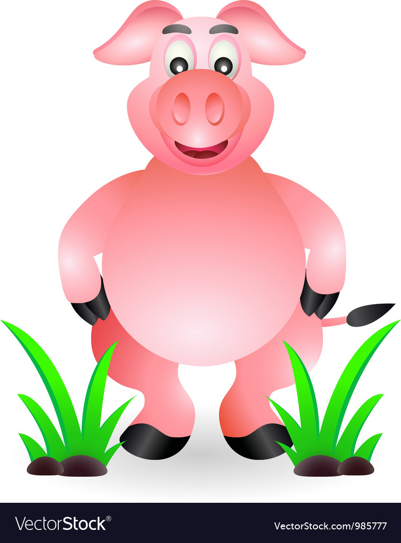 Animated pigs standing - photo#6