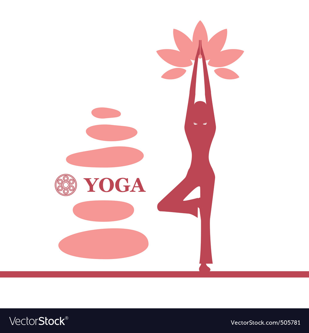 Yoga and pilates background vector