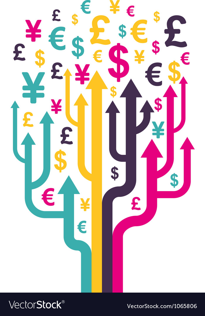 Abstract money tree vector
