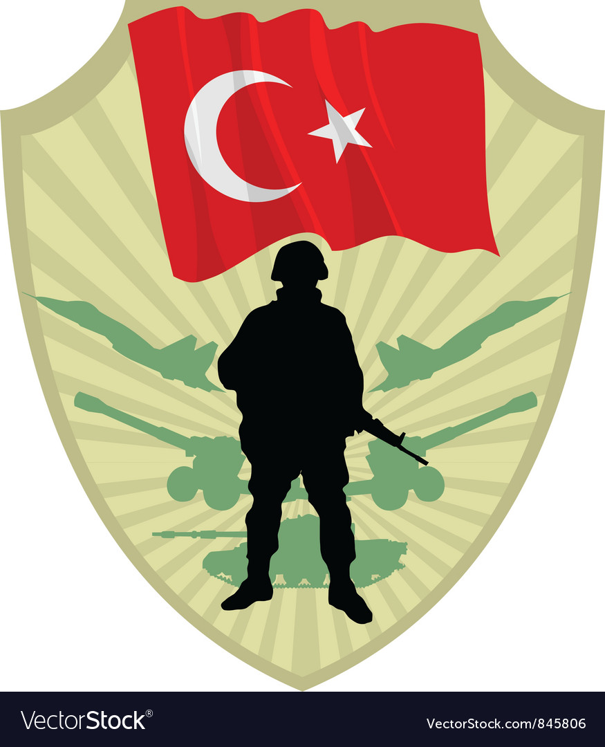Army of turkey vector