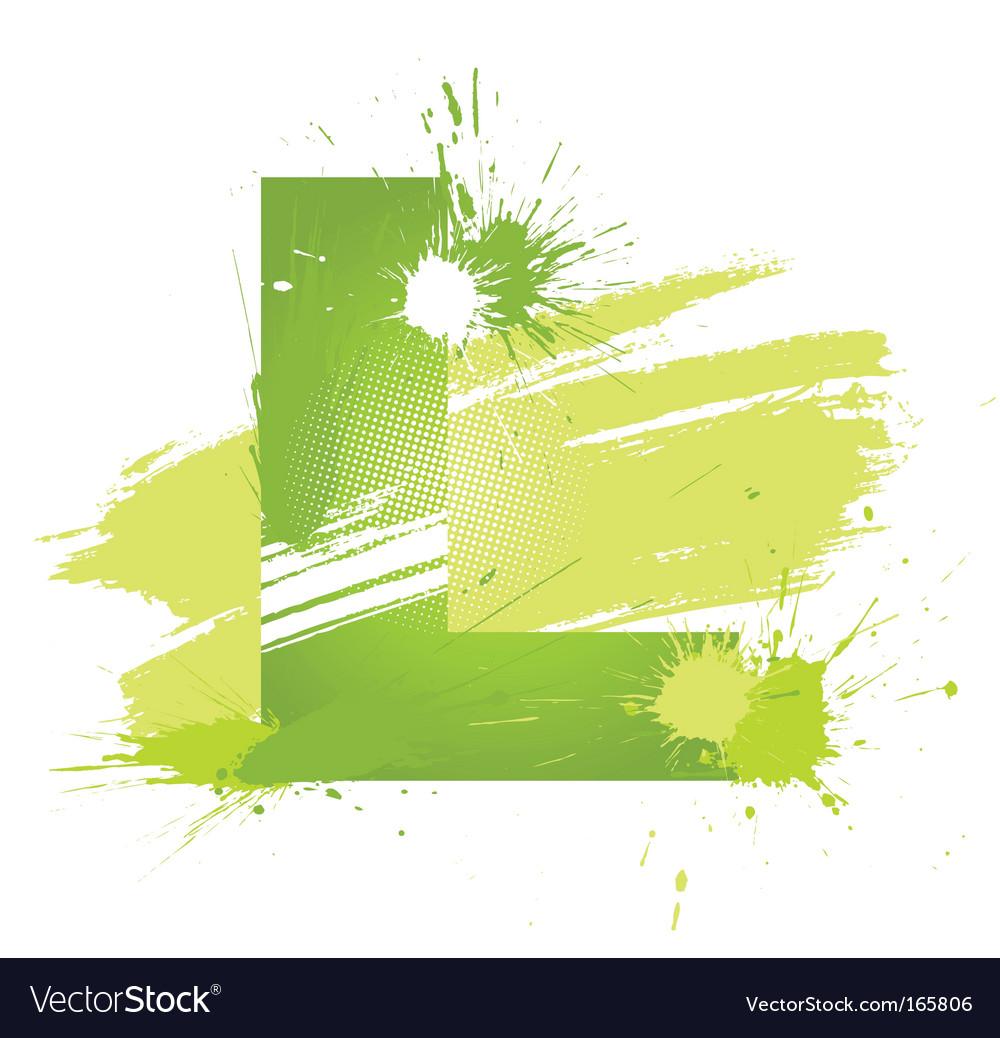 Font letter l vector
