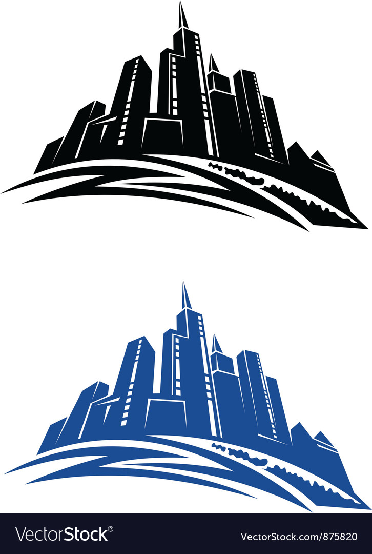 Modern city buildings vector
