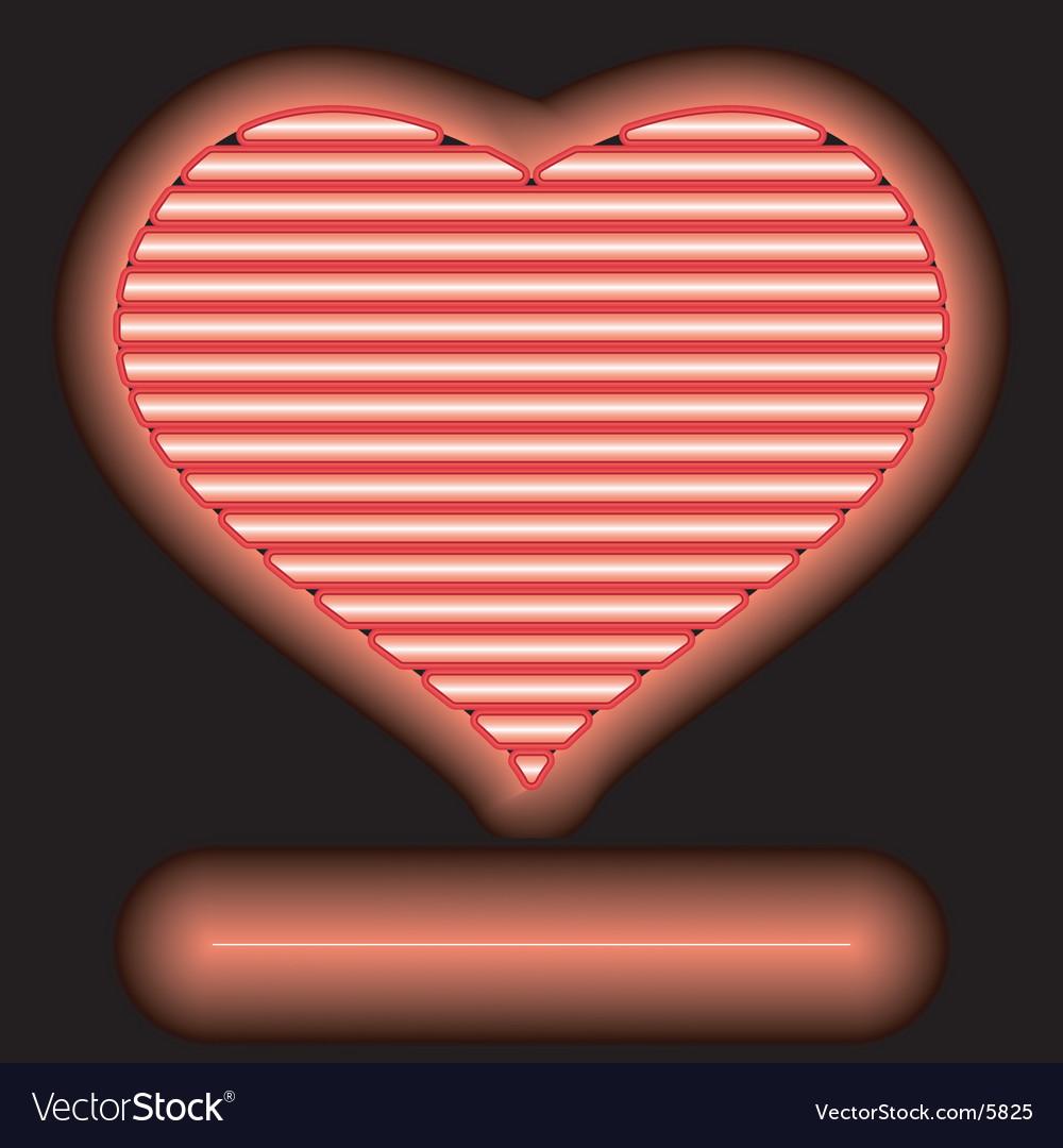 Neon love vector