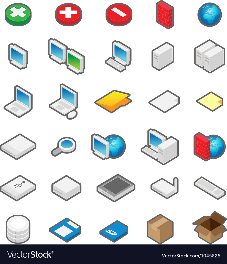 Perspective icons vector