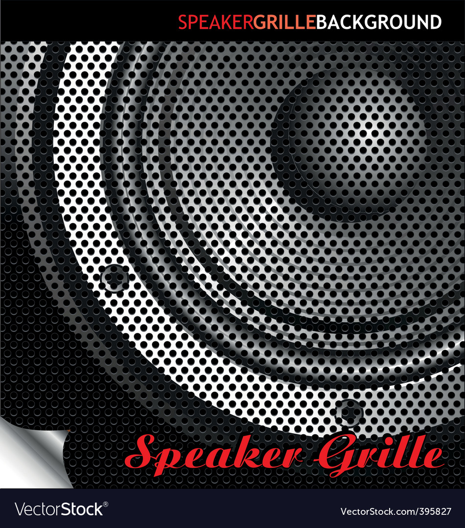 Speaker grille background vector