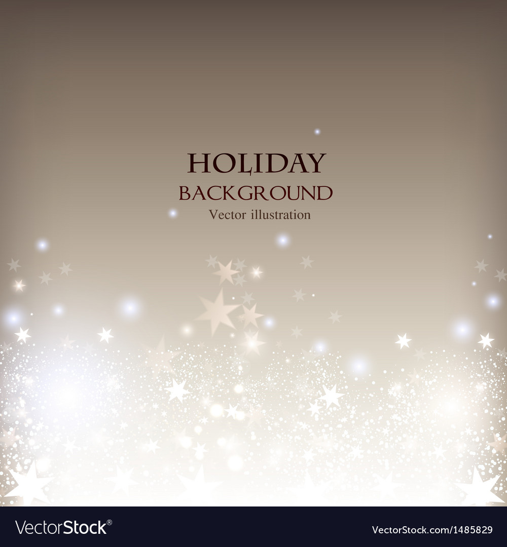 Elegant christmas shining background with stars vector