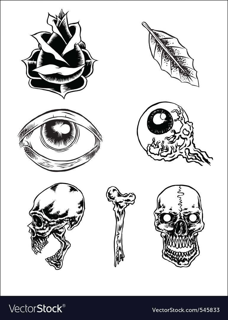 Free classic tattoos vector