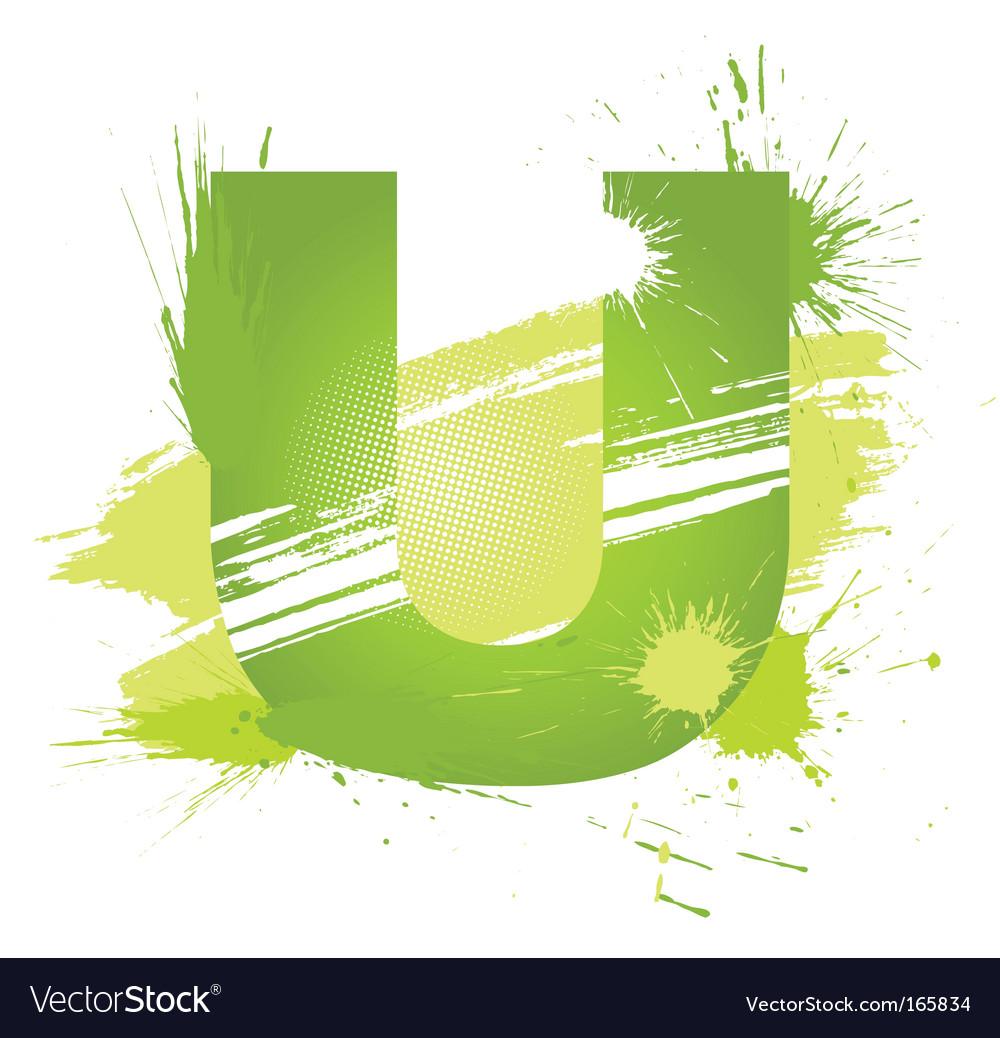 Font letter u vector