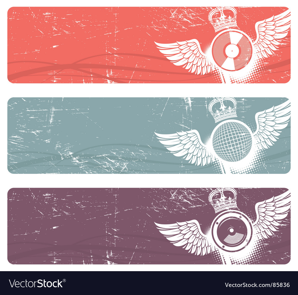 Musical banners vector