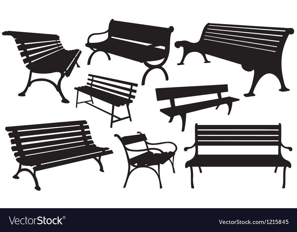 Benches vector art - Download Benches vectors