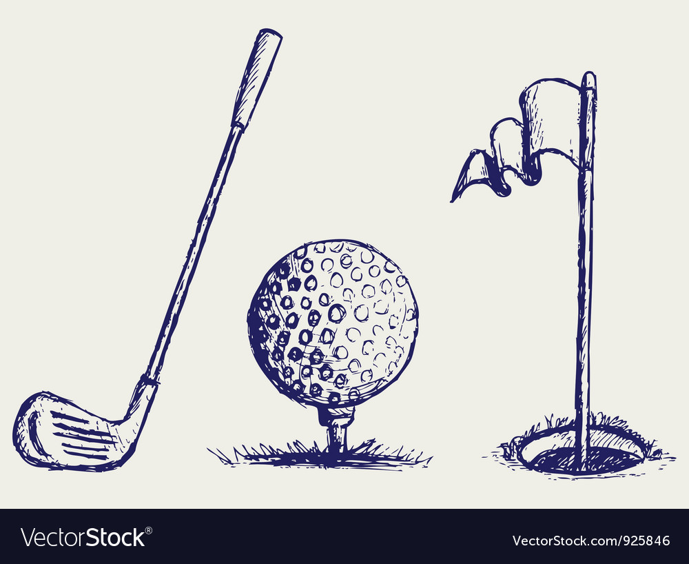 Golf set vector