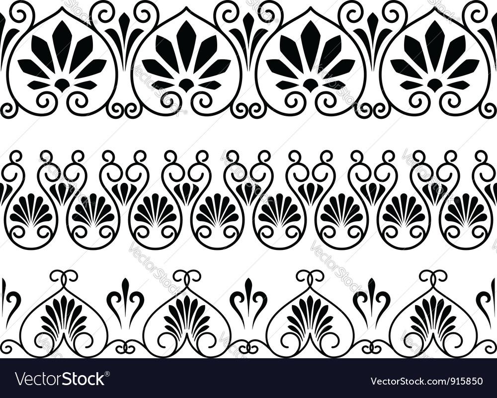 Set of floral vintage embellishments vector