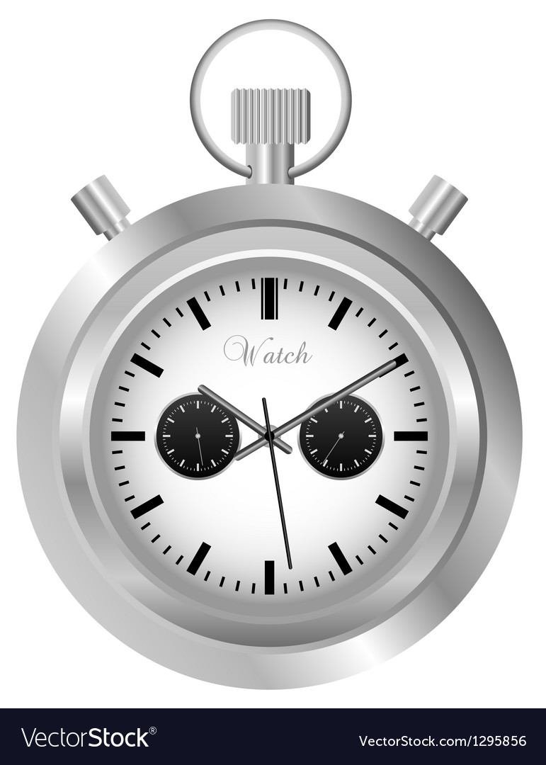 Pocket watch vector