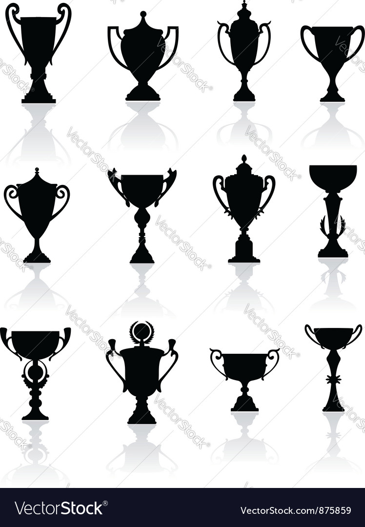 Sports trophies and awards vector