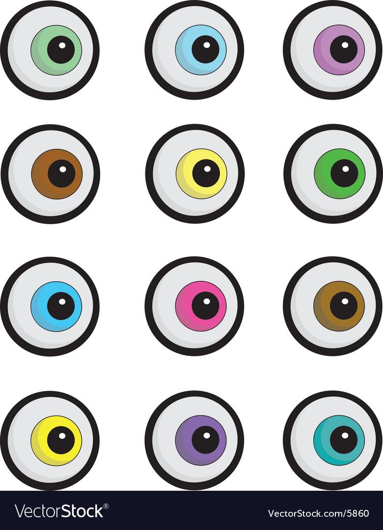 Cartoon Eyeballs Vector By Paininc Image 5860 VectorStock