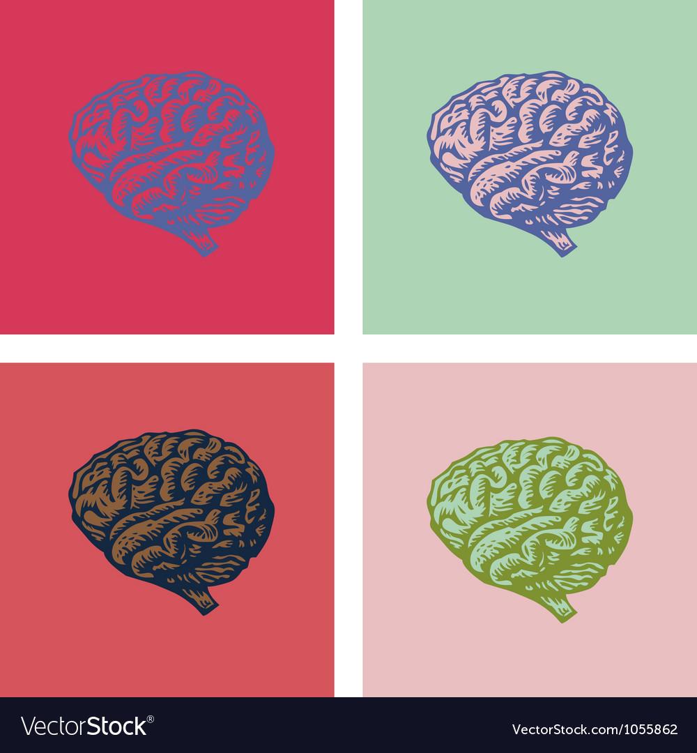 Brain popart vector