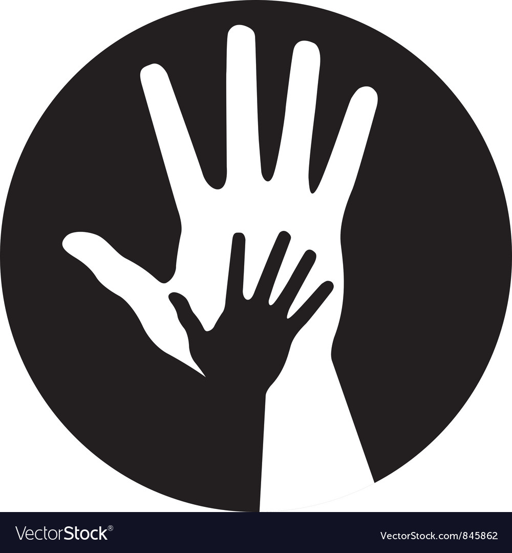 Caring hands icon vector