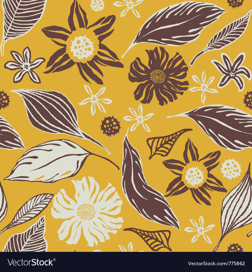Vintage craft wrapping paper vector
