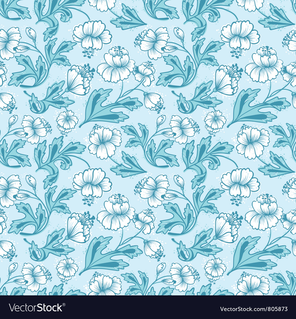 Floral abstract seamless vector