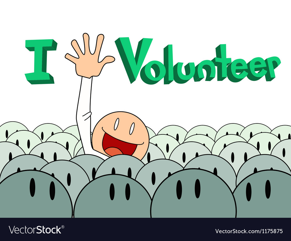 Volunteer poster background vector