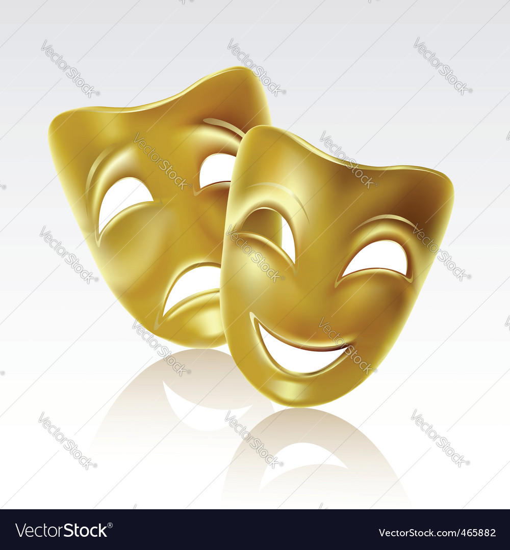 Comedy tragedy mask vector