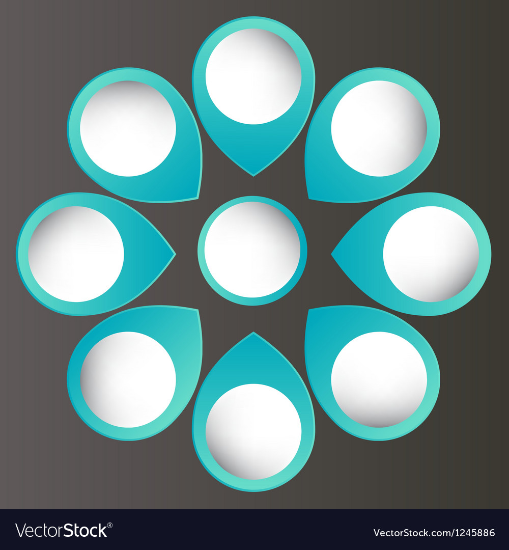 Concept of colorful circular banners with arrows vector