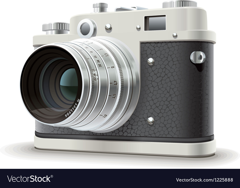 Old photo camera vector