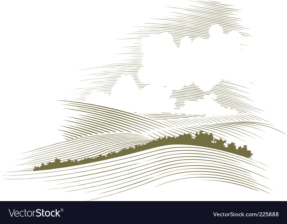 Woodcut skyscraper vector