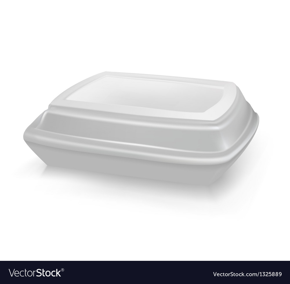Box for food lunch box vector