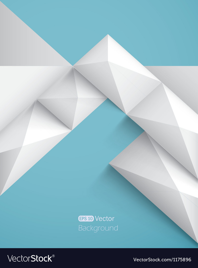 Realistic geometrical background with pyramids vector