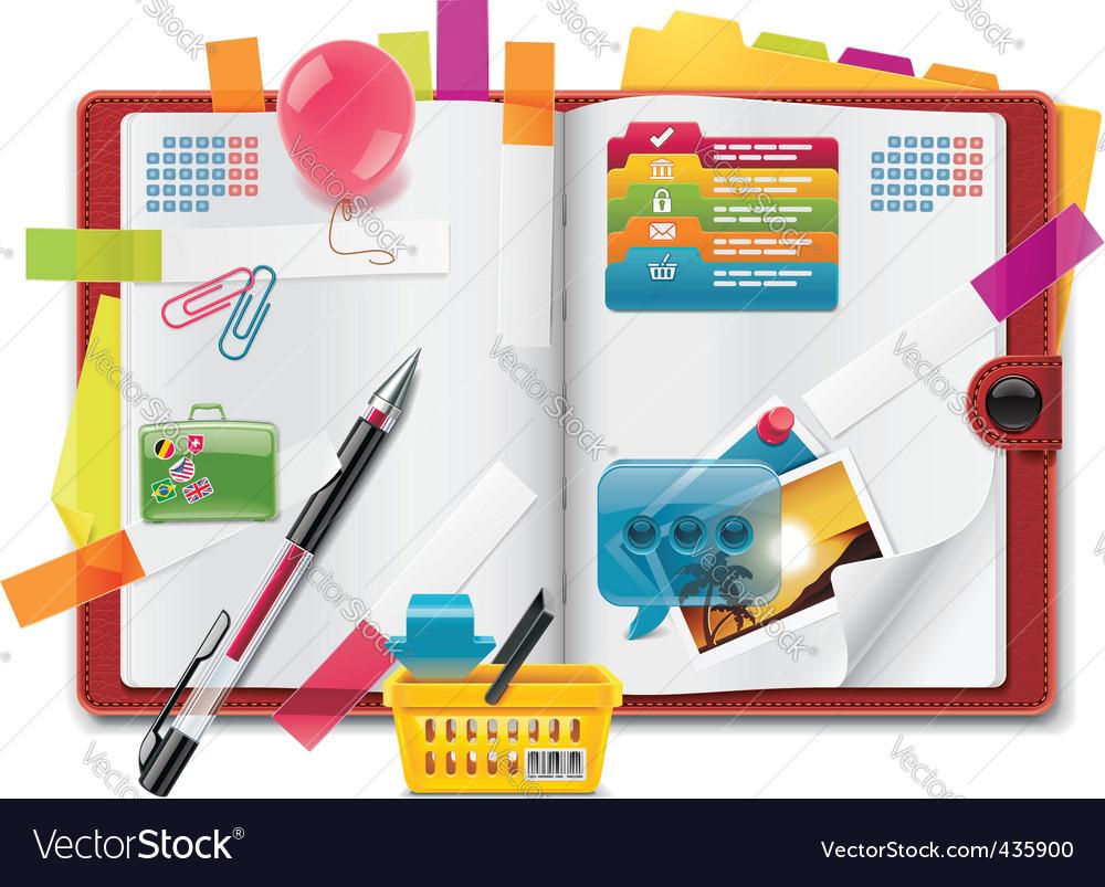Personal organizer vector