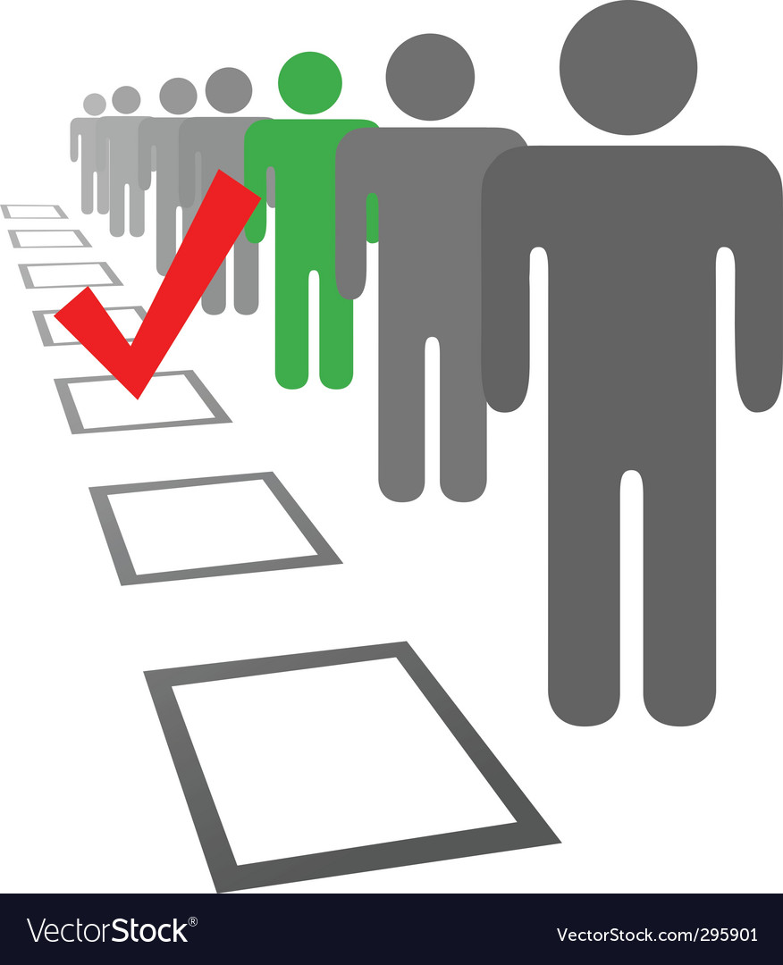 Election boxes vector