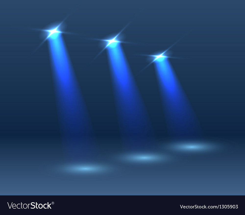 Scene with lighting vector