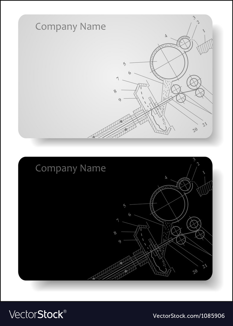Business card for the engineer vector