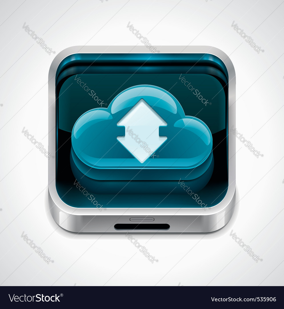 Cloud computing xxl icon vector