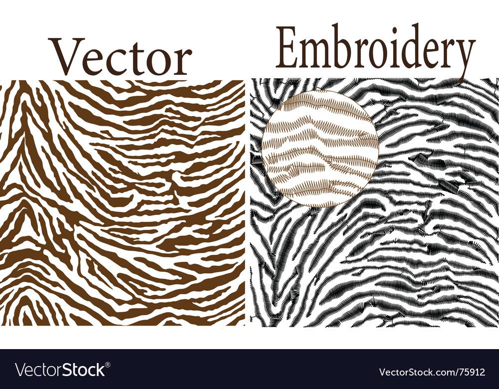 Zebra skin vector