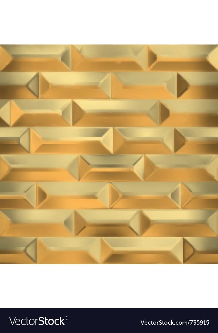 Seamless gold wall vector